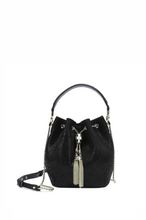 Load image into Gallery viewer, Leather Drawstring Bucket Bag