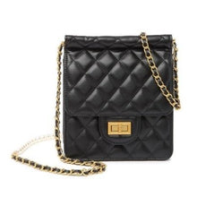 Load image into Gallery viewer, Faux Pearl Embellished Quilted Lambskin Shoulder Bag