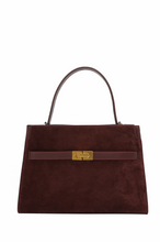 Load image into Gallery viewer, Suede Double Compartment Satchel Bag