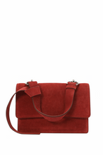 Load image into Gallery viewer, Suede Structured Shoulder/ Messenger Bag