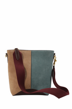 Load image into Gallery viewer, Two-tone Suede Hobo Bag