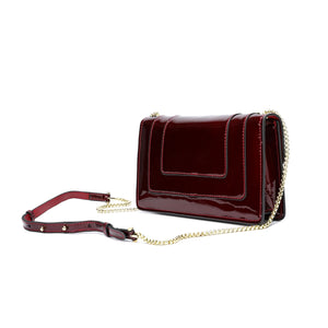 Patent Leather Shoulder Evening Bag