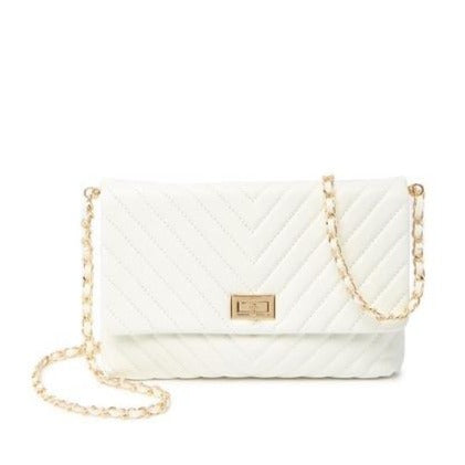 Marquise Cut Quilted Lambskin Crossbody Bag