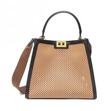 Load image into Gallery viewer, Full-grain Smooth Leather Perforated Tote