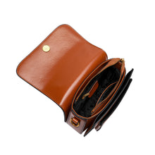 Load image into Gallery viewer, Flap-over Gradient Leather Shoulder Bag
