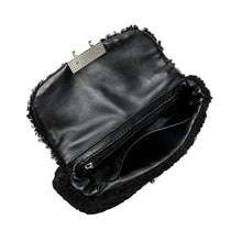 Load image into Gallery viewer, Wool-shearling Flap Shoulder Bag