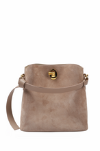 Load image into Gallery viewer, Suede Knot-handle Shoulder/ Hobo Bag