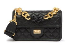 Load image into Gallery viewer, Novelty Strap Quilted Faded Leather Shoulder Bag
