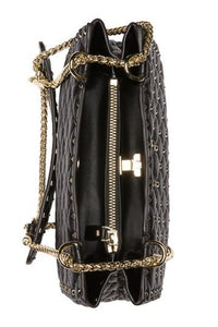 Valenté Studded & Quilted Leather Shoulder Bag