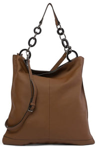 Leather Messenger Tote