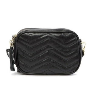 Large Quilted Rectangular Chevron Shoulder/ Crossbody Bag