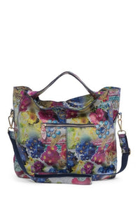 Vintage Floral Leather Shoulder Bag