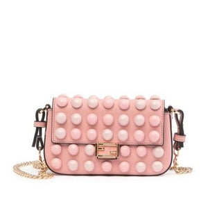 Marshmallow Leather Crossbody Bag