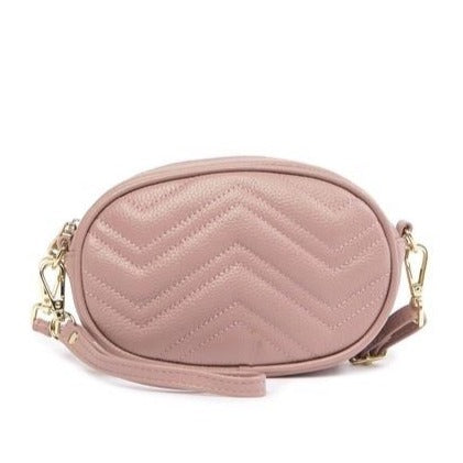 Mini Chevron Quilted Shoulder/ Crossbody Bag
