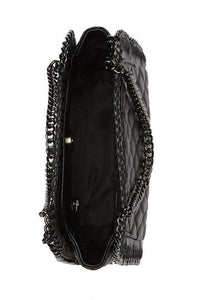 Quilted Chain Leather Shoulder Bag