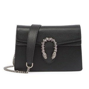 Crystal Dragon Leather Crossbody Bag