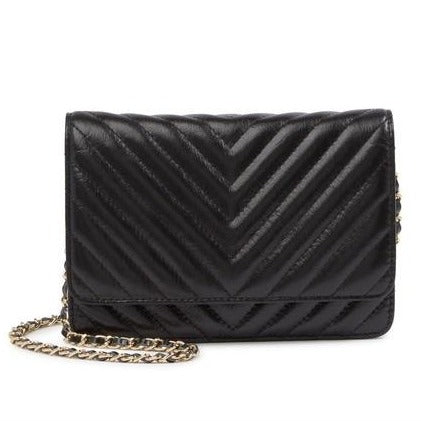 Quilted Flap Leather Shoulder/ Crossbody Bag