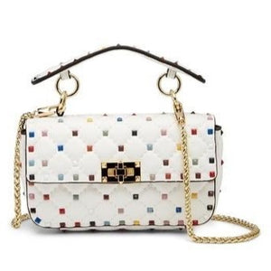 Valenté Studded Leather Shoulder Bag