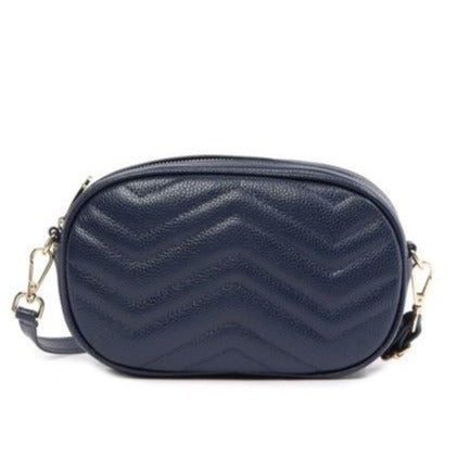 Large Chevron Quilted Shoulder/ Crossbody Bag