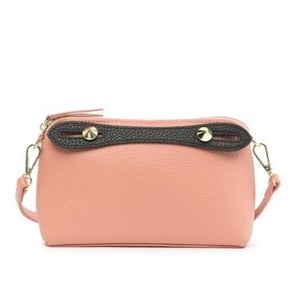 Two-Tone Leather Shoulder Bag