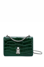 Load image into Gallery viewer, Alligator Embossed Leather Shoulder/ Crossbody Bag