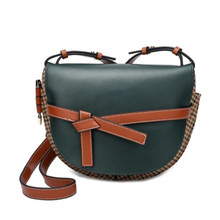 Load image into Gallery viewer, Semi-circle Bow-detailed Flap Messenger/ Shoulder Bag