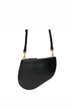 Load image into Gallery viewer, Full-grain Napa Leather Peanut-shaped Shoulder Bag