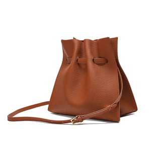 Full-grain Front Knot Hobo/ Tote Bag