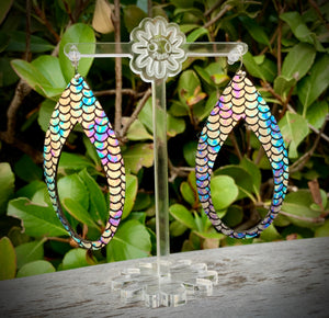 Mermaid Tail Lost Tear Leather Earring - 3""