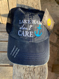 """Lake Hair Don't Care"" Distressed Cap"