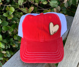 """Love"" Leather Patch Cap"
