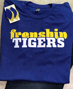Retro Frenship Tigers Shirt - Royal Blue