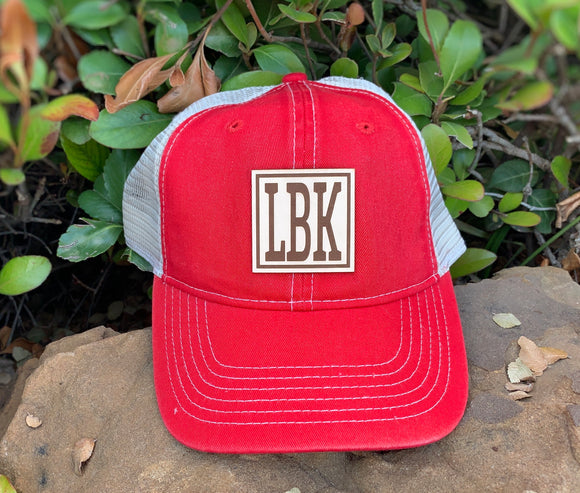 Leather Patch Cap - LBK