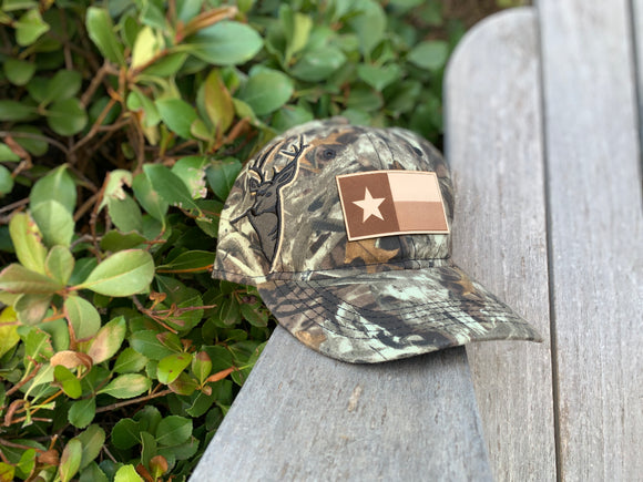 DRI DUCK - 3D Buck Cap with Texas Flag Leather Patch