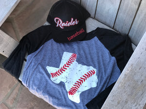 Texas Baseball Raglan