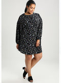 Ex Second Script Curve Fully Sleeve Flippy Day Dress