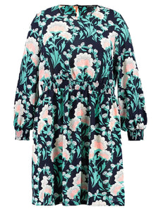 Ex Second Script Curve Floral Zia Smocked Dress