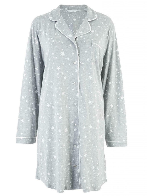 Ex Marks and Spencer Cotton Button Nightie Shirt Nightdress Plus Size Pyjamas