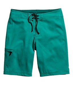 Ex H&M Green Swimshorts Fly Zip Waist Size S-XL