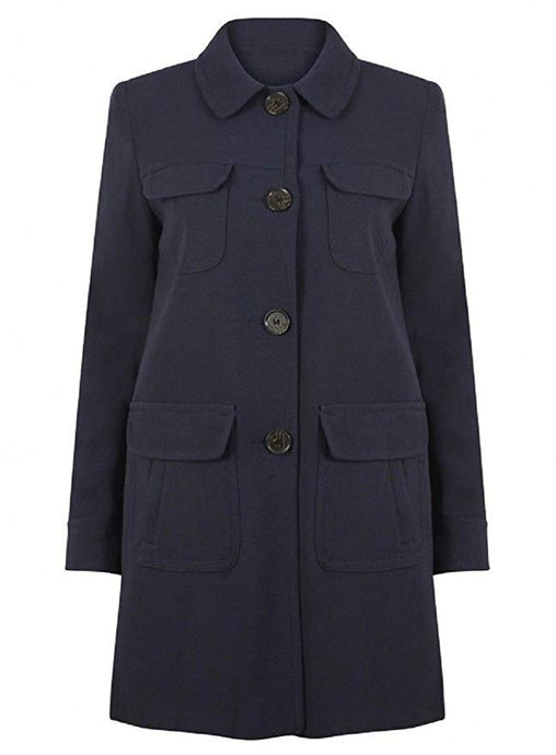 Ex Next Ladies Long Sleeve Navy Parka Military Jacket Coat Size 8-20