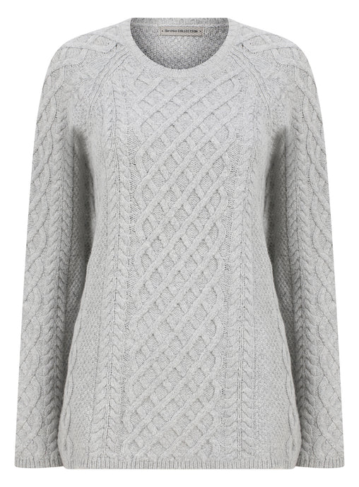 Ex Bershka Ladies Cable Jumper Knitwear