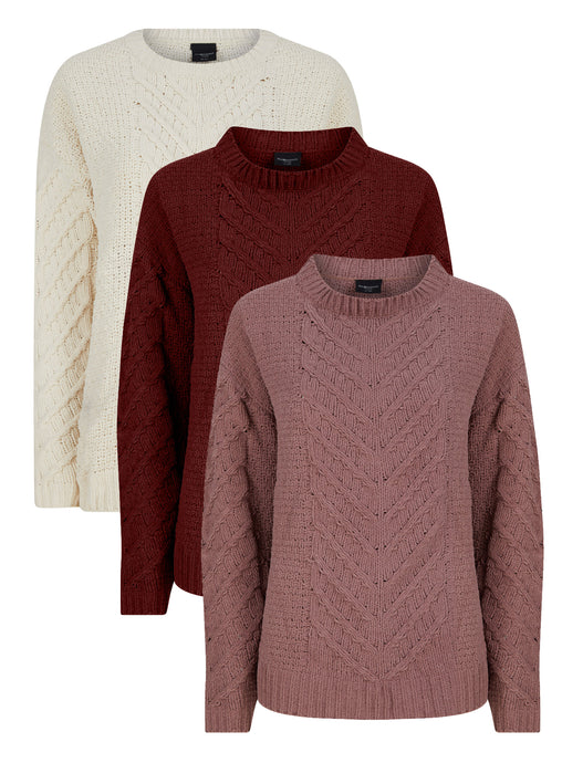 Piazza Italia Ladies Chenille Soft Feel Cozy Jumper