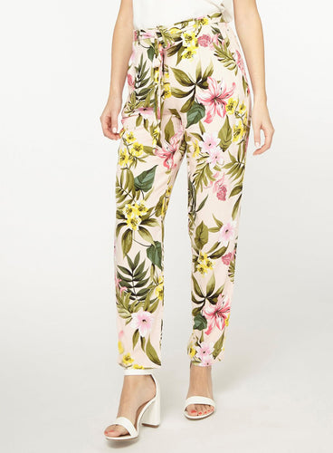 Ex Dorothy Perkins Blush Floral Print Plus Size Joggers Trousers