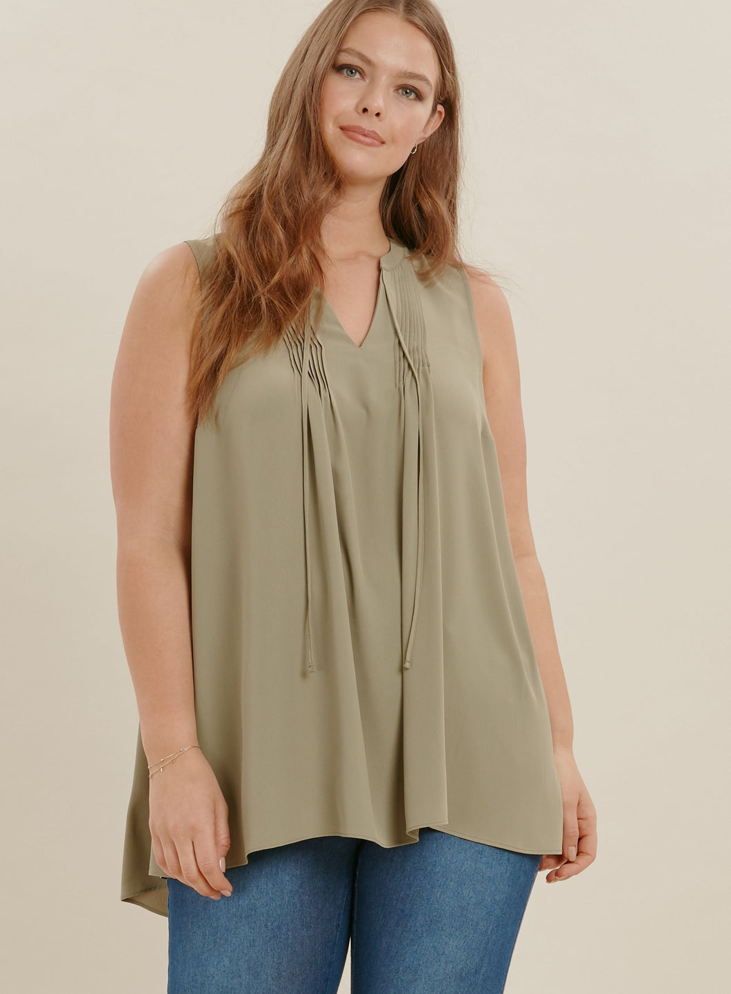 Ex Evans Embroidered V-Neck Sleeveless Blouse Top