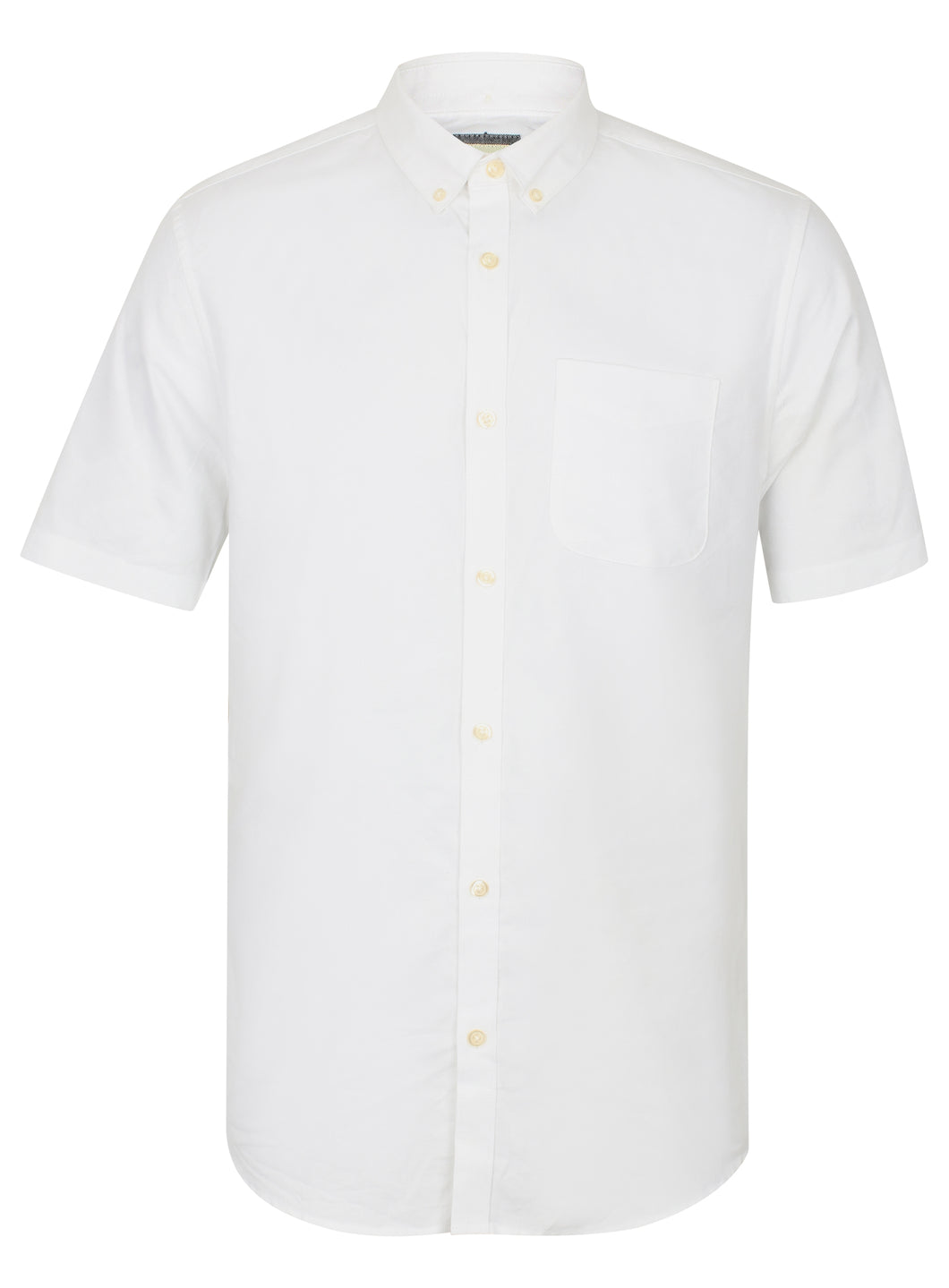 Ex River Island Mens White Short Oxford Slim Fit Sleeve Button Up Shirt Size XXS-XXL