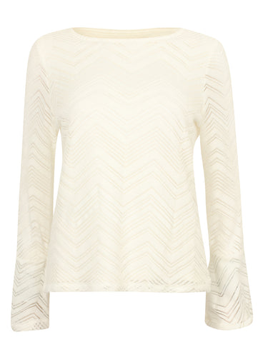 Ex Marks And Spencer Cream Flared Arm Knitwear Jumper