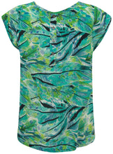Ex Dorothy Perkins Short Sleeve Green Floral Palm Print Blouse Top