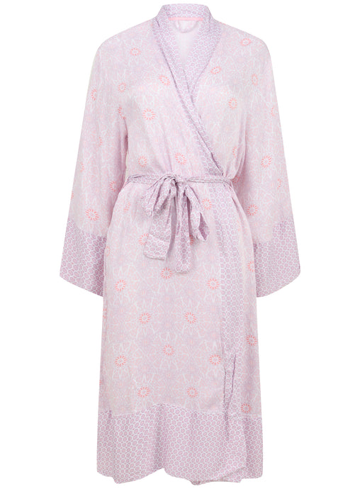 Ex Marks And Spencer Pink Thin Lightweight Tie Belt Dressing Gown