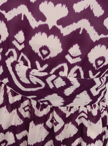 Ladies Sleeveless Purple Printed Tunic Dress