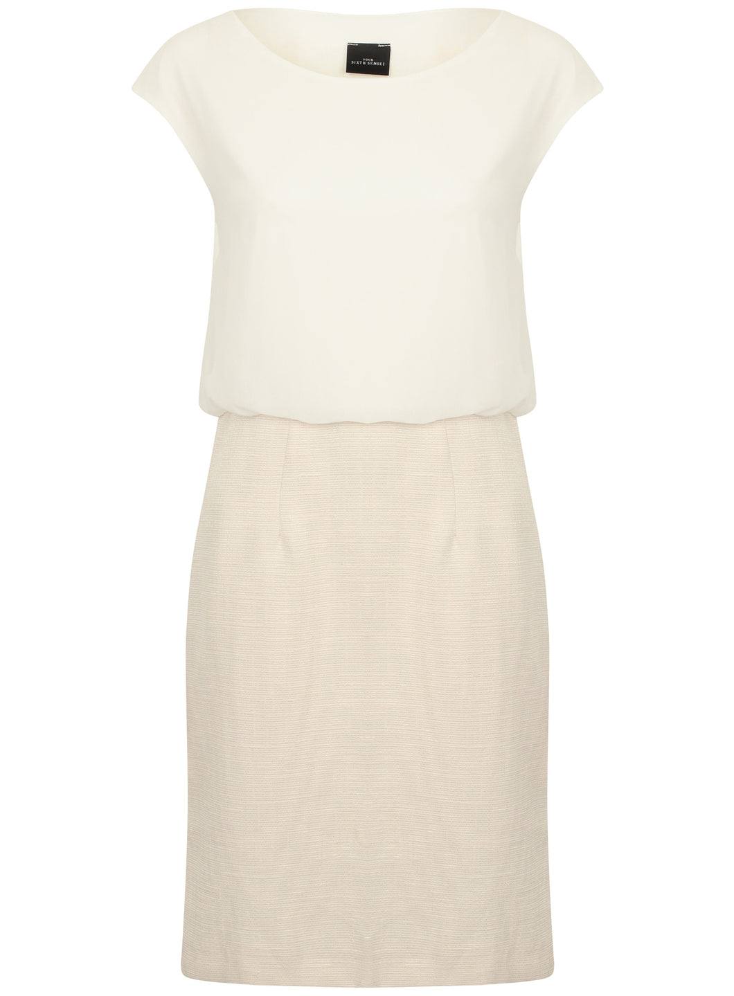 Ladies Panel Cream Office Work Dress
